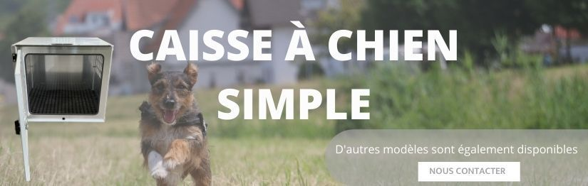 Caisse transport chien simple Made in France