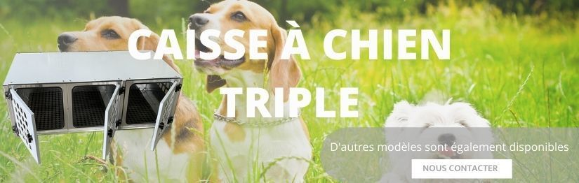 Caisse transport chien triple - Made in France